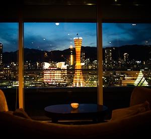 大阪のサプライズプロポーズ 神戸メリケンパークオリエンタルホテル スカイラウンジ 港's