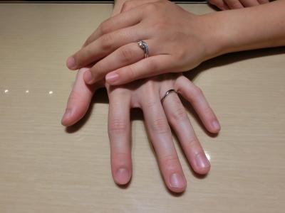 いい指輪を選ぶことが出来ました