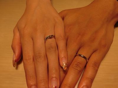 気に入る指輪を見つける事ができ良かったです。