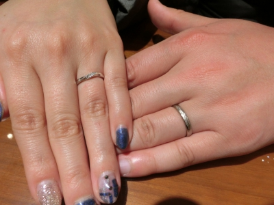 楽しく指輪を選ぶことが出来ました
