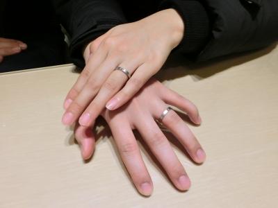 指輪選びも楽しくできました