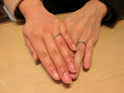 指輪つけるのが楽しみです♪