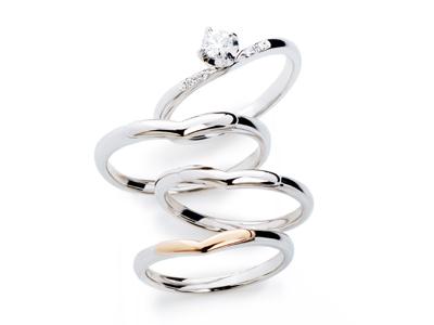インフィニティラブ,結婚指輪,細身