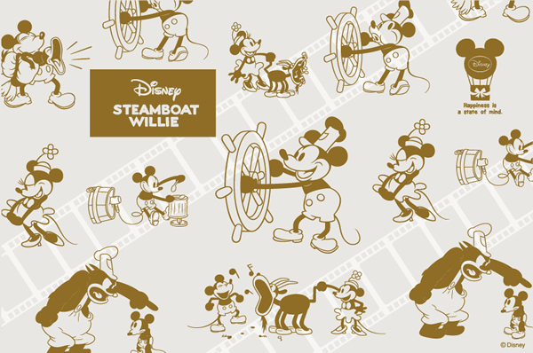【スチームボートウィリー】ミッキー&ミニーのぬいぐるみプレゼント*:・'゜☆ 12/2~12/16まで