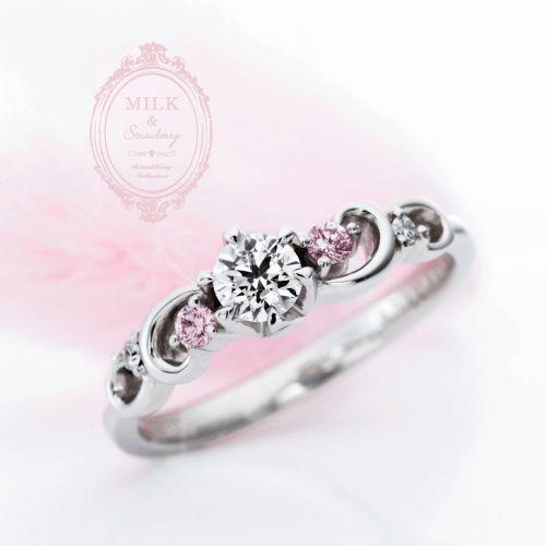 心斎橋なんばでMilk&Strawberryミルクアンドストロベリーの婚約指輪アンコードの正規取扱店はgarden心斎橋