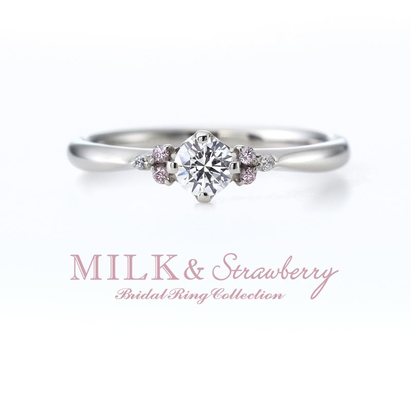心斎橋なんばでMilk&Strawberryミルクアンドストロベリーの婚約指輪エステラの正規取扱店はgarden心斎橋