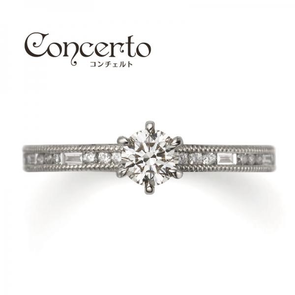 オレッキオコンチェルトシリーズの婚約指輪