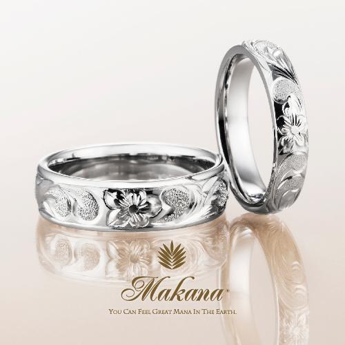 ハワイアンジュエリーのMakanaマカナのバレルタイプの結婚指輪で大阪・心斎橋・難波・奈良・和歌山の2