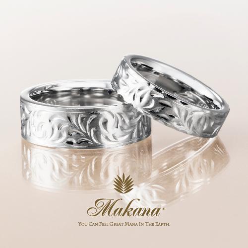ハワイアンジュエリーのMakanaマカナのフラットタイプの結婚指輪で大阪・心斎橋・難波・奈良・和歌山の正規取扱店3