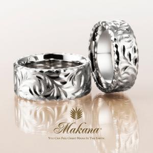 ハワイアンジュエリーのMakanaのフラットタイプの結婚指輪で大阪・心斎橋・難波・奈良・和歌山の正規取扱店2