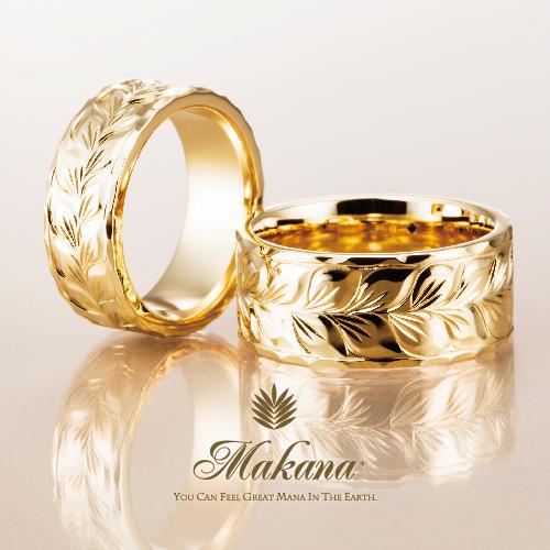 ハワイアンジュエリーのMakanaマカナの結婚指輪でフラットタイプの大阪・心斎橋・難波・奈良・和歌山の正規取扱店1