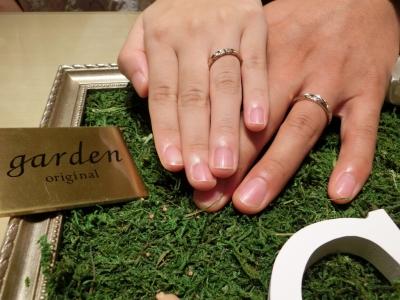 希望にそった指輪を選んでいただきありがとうございました