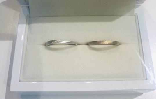 大阪心斎橋の手作り結婚指輪マット
