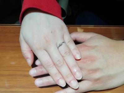 婚約指輪のご成約(東大阪市/石川県金沢市)