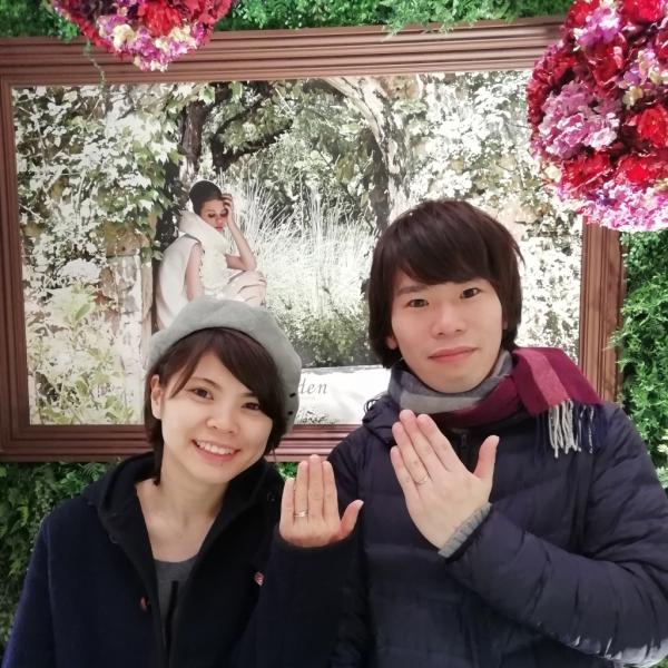 Lapageラパージュの婚約指輪、ひなの結婚指輪ご成約(大阪府藤井寺市)