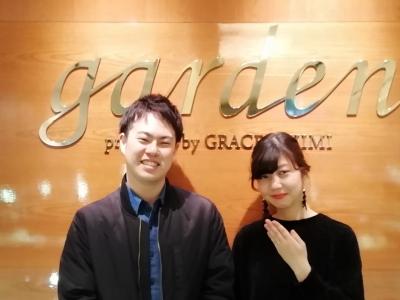 Lapageの婚約指輪、FISCHERの結婚指輪のご成約(大阪市中央区)
