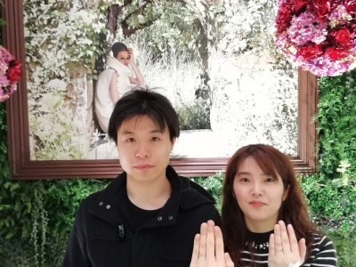 RoseetEロゼットとひなの結婚指輪ご成約(東大阪市)