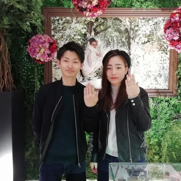 FISCHERフィッシャーの結婚指輪のご成約(大阪市浪速区)