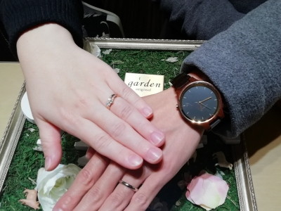 BAUMバームの婚約指輪とBRIDGEブリッジ、et,luエトルの結婚指輪ご成約(大阪市阿倍野区 城東区)