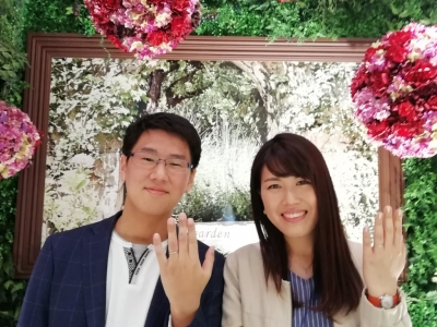 nocruノクルの結婚指輪のご成約(山口県山口市 大阪府堺市)