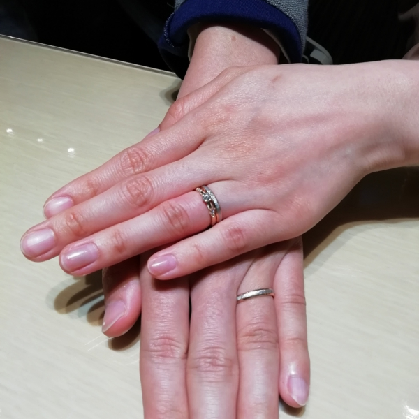 CHER LUVシェールラヴの婚約指輪とFISCHERフィッシャーの結婚指輪のご成約(奈良市 京都府宇治市)