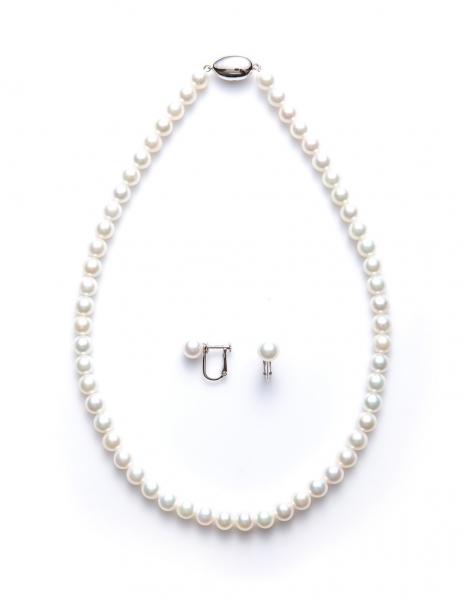 アコヤ本真珠ネックレスイヤリングセット7.0~7.5mm