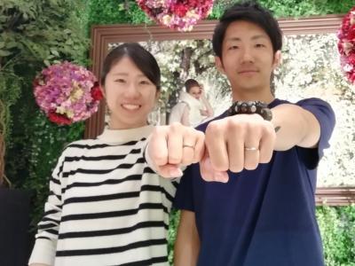nocurノクルとLapageラパージュの結婚指輪のご成約(大阪府松原市)
