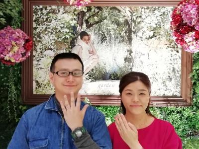PAVEO CHOCOLATパヴェオショコラの結婚指輪をご成約頂いた方(大阪府高槻市)