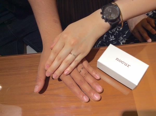 nocurノクルの結婚指輪をご成約の方(大阪市城東区)