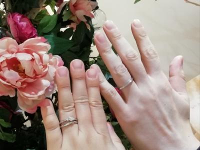 garden(ガーデン)オリジナル婚約指輪とet.luエトルの結婚指輪をご成約の方(大阪府堺市)