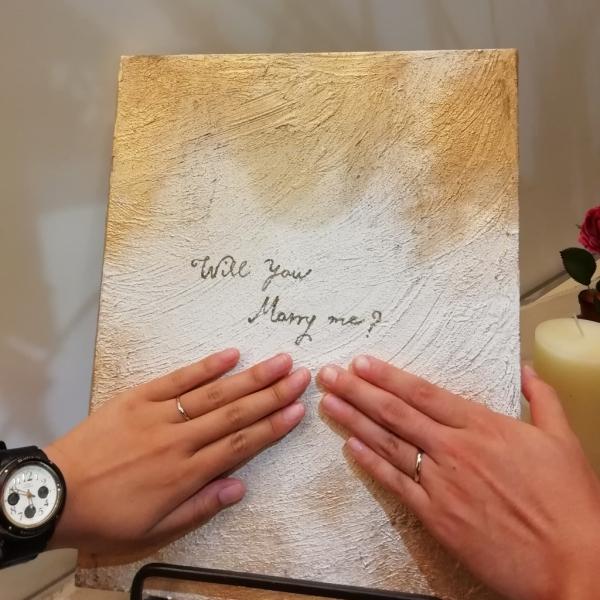 ロゼットRosettEの結婚指輪をご成約頂いた方(大阪府和泉市)