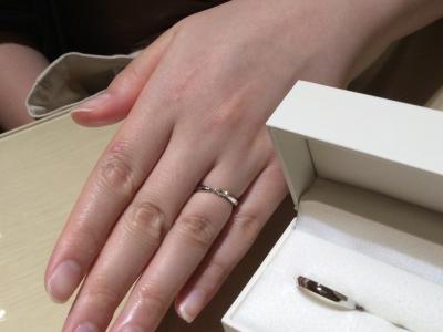 エトルet.luの結婚指輪をご成約頂いたかた(大阪府堺市)