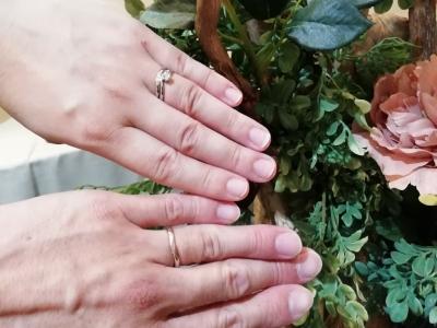 アムールアミュレットAMOUR AMULETの婚約指輪と結婚指輪ご成約の方(大阪府大東市 東大阪市)