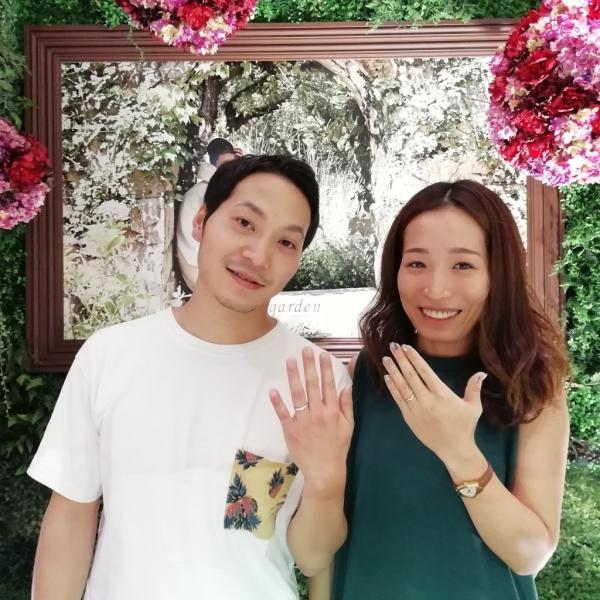 フィッシャーFISHERの結婚指輪をご成約頂きました(大阪市港区)