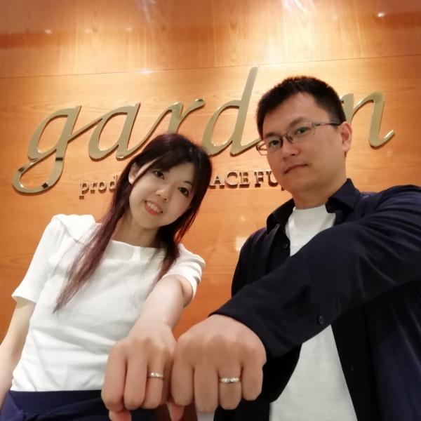 ガーデンオリジナル婚約指輪とパイロットPilotの結婚指輪をご成約頂きました(大阪市西区 奈良市)