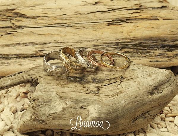 ハワイアンジュエリーの結婚指輪(マリッジリング)リナモアの心斎橋なんばの正規取扱店はgarden心斎橋