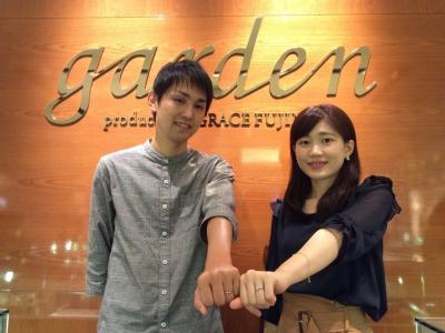 ガロピーネ&ガロパンの結婚指輪をご成約の方(和歌山市)