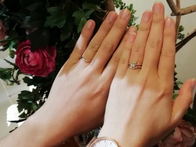 ガーデンの婚約指輪とグラマGRAMAの結婚指輪ご成約の方(奈良県桜井市)