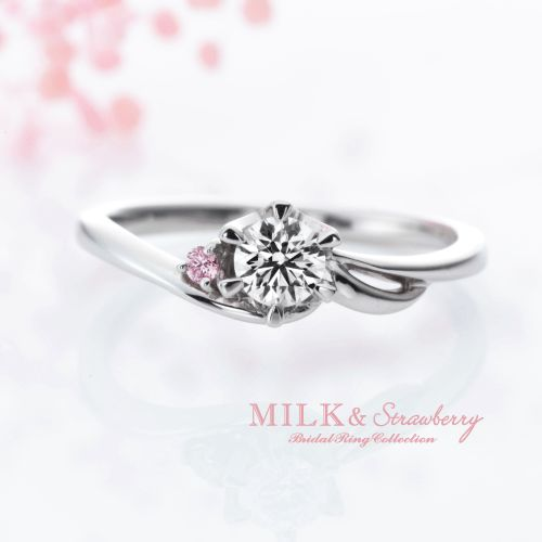 MILK&Strawberryの結婚指輪でウィンド
