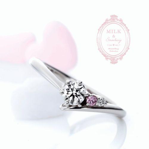 MILK&Strawberryの婚約指輪でアドミレ