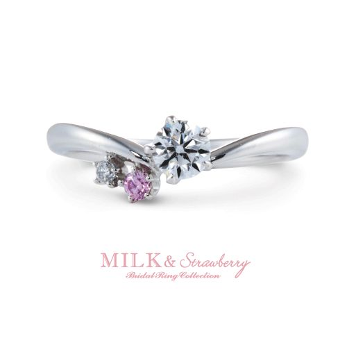 MILK&Strawberryの結婚指輪でボヌール