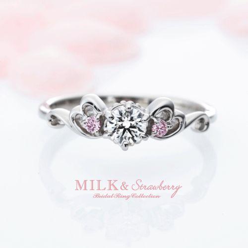 ピンクダイヤモンド結婚指輪大阪2