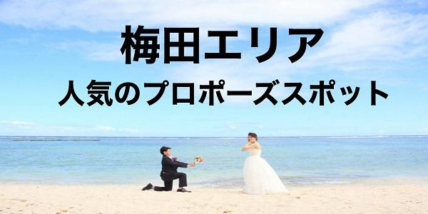 梅田エリア|で人気のプロポーズスポット3選