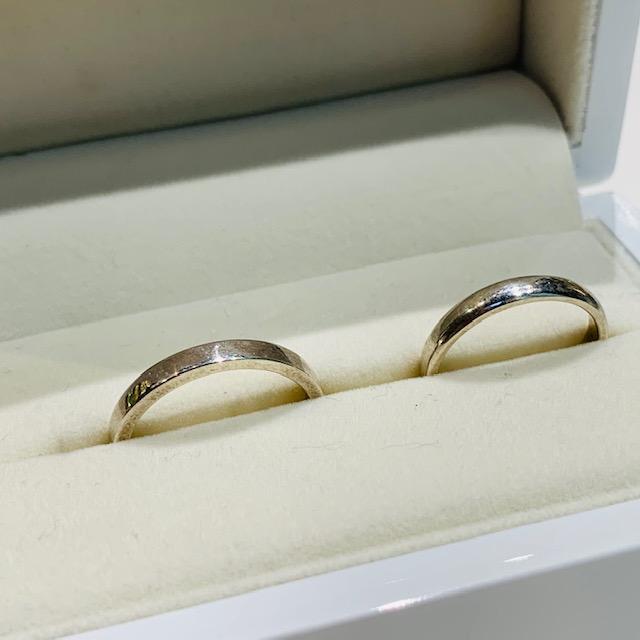 手作り結婚指輪平打ち甲丸