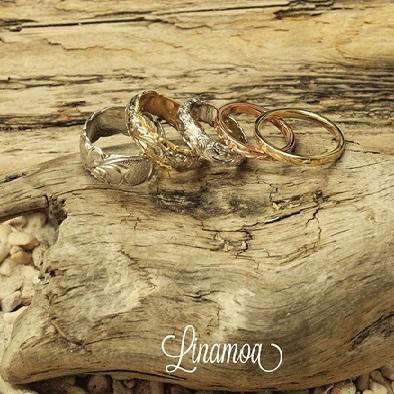 ハワイアンジュエリーならリナモアの結婚指輪