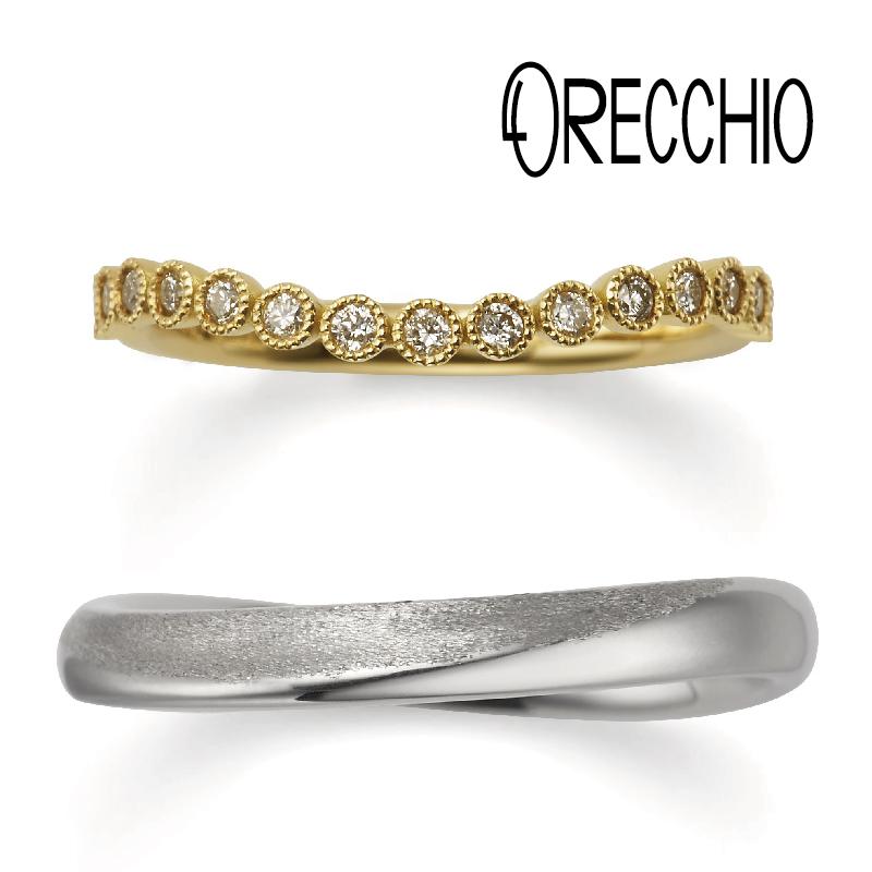 おしゃれな結婚指輪オレッキオ5