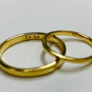 手作り結婚指輪 K18(ゴールド)