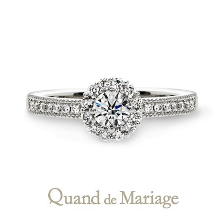 クアンドゥマリアージュの婚約指輪オソレイユ
