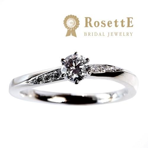 ロゼットの婚約指輪月あかり