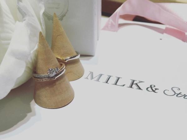 【大阪】Milk & Strawberryの婚約指輪と結婚指輪